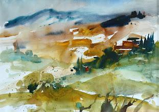 Photo: Toskana, Blick von Montalcino, 56x76cm