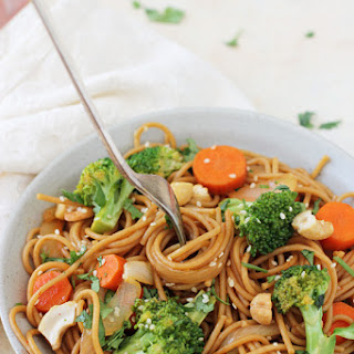 Spicy Broccoli Carrot Noodle Stir-Fry.