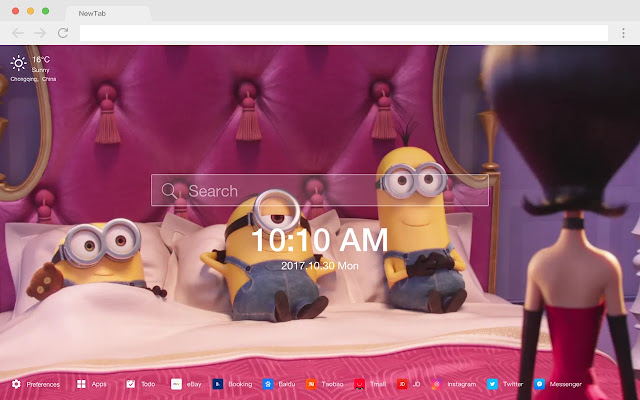 Bed New Tab HD Photography Top Theme