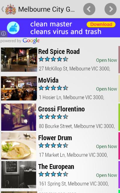 Скриншот Melbourne City Guide