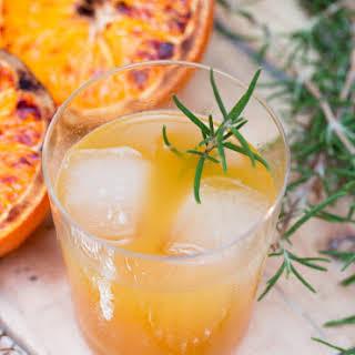 Roasted Orange & Rye Whiskey Cocktail.