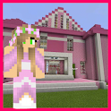 Princess House Pink Map For MCPE icon