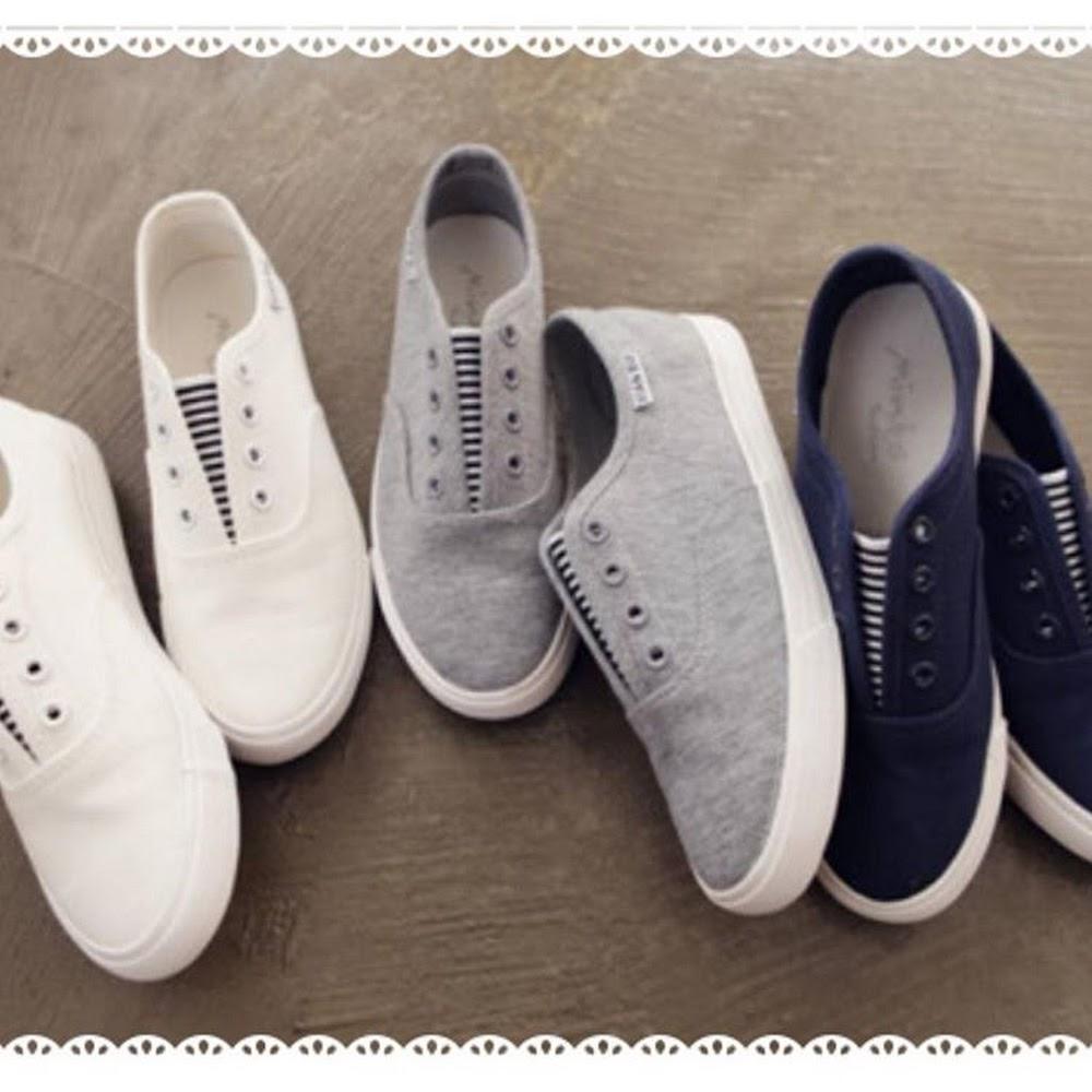 🈹🇰🇷🇰🇷淨色間條休閒鞋🈹