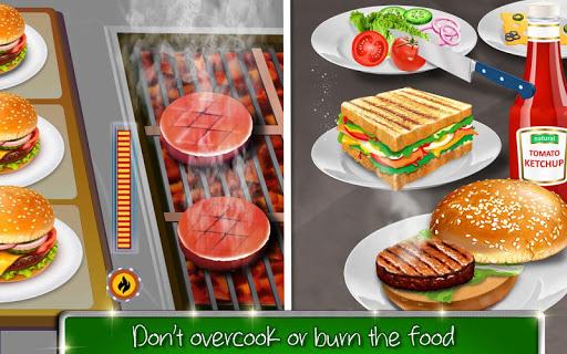 High School Cafu00e9 Girl: Burger Serving Cooking Game 1.1 screenshots 7