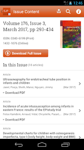 European Journal of Pediatrics- screenshot thumbnail