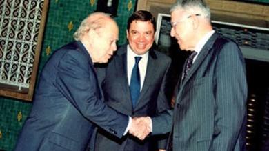 Jordi Pujol con el Primer ministro de Marruecos, M. Abbas El Fasi.