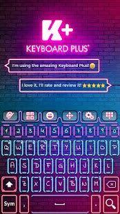 Keyboard Plus Neon - náhled