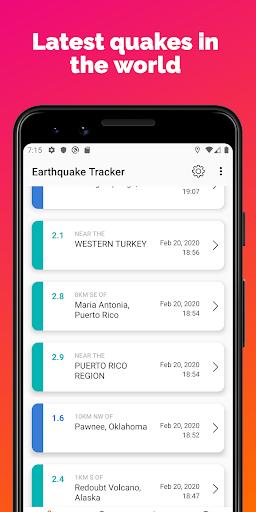 Earthquake Tracker - Latest quakes, Alerts & Map 3.0.1 screenshots 1