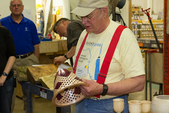 Photo: Bob can't pass up making his tried and true open segmented bowl.