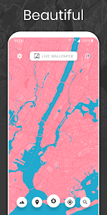 Cartogram - Live Map Wallpapers & Backgrounds Screenshot