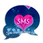 Pink Blue Theme GO SMS Pro icon