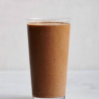 Banana, Coffee, Cashew, and Cocoa Smoothie.