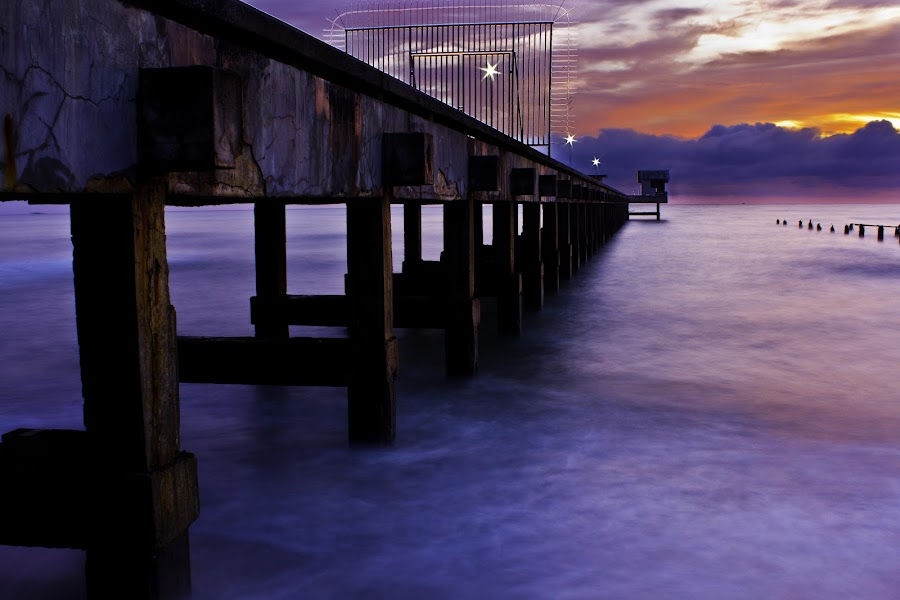The Port by Ryan Dominguez - Backgrounds Nature ( water, sea, still waters, long exposure, sunrise )