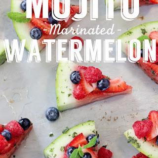 Mojito Marinated Watermelon Slices Recipe