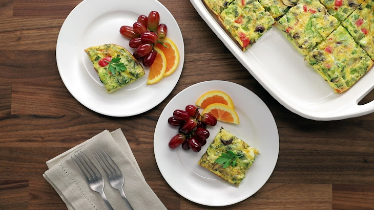 Three-Cheese Egg Casserole Recipe