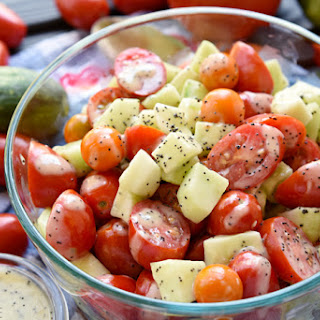 Tomato Cucumber Poppyseed Salad