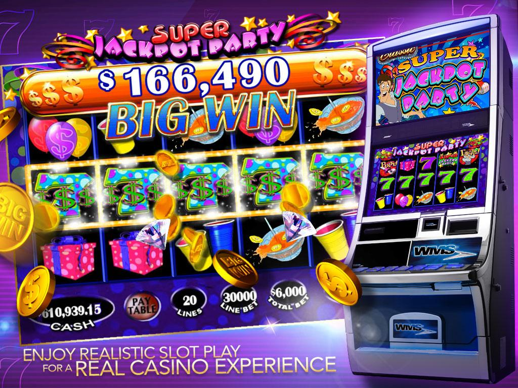 play jackpot party slot machine online  app