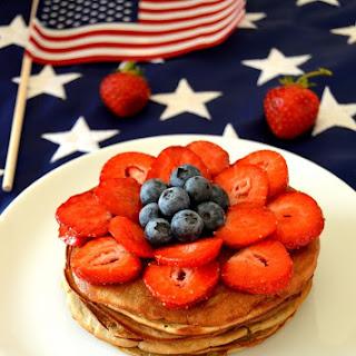 Healthy 3 Ingredients Fireworks Pancakes.