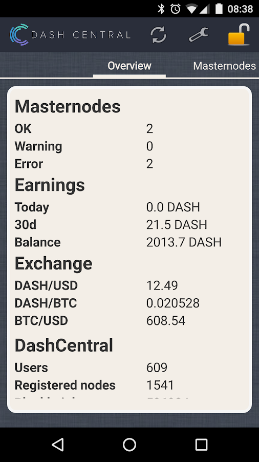 DashCentral- screenshot