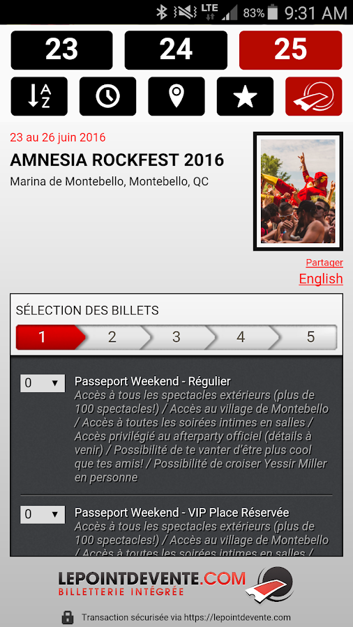 Amnesia Rockfest 2016- screenshot