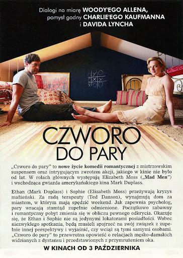 Tył ulotki filmu 'Czworo Do Pary'