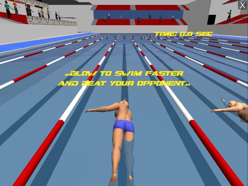 Скриншот Swimmer (Breathing Games)