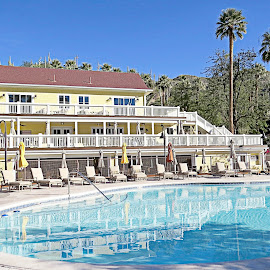Castle Hot Springs Lodge by Nancy Young - Buildings & Architecture Public & Historical ( relaxing, pool, hot spring, building, architecture )