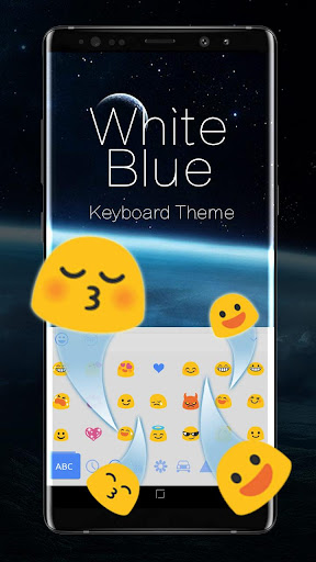 White Blue System Keyboard ss2