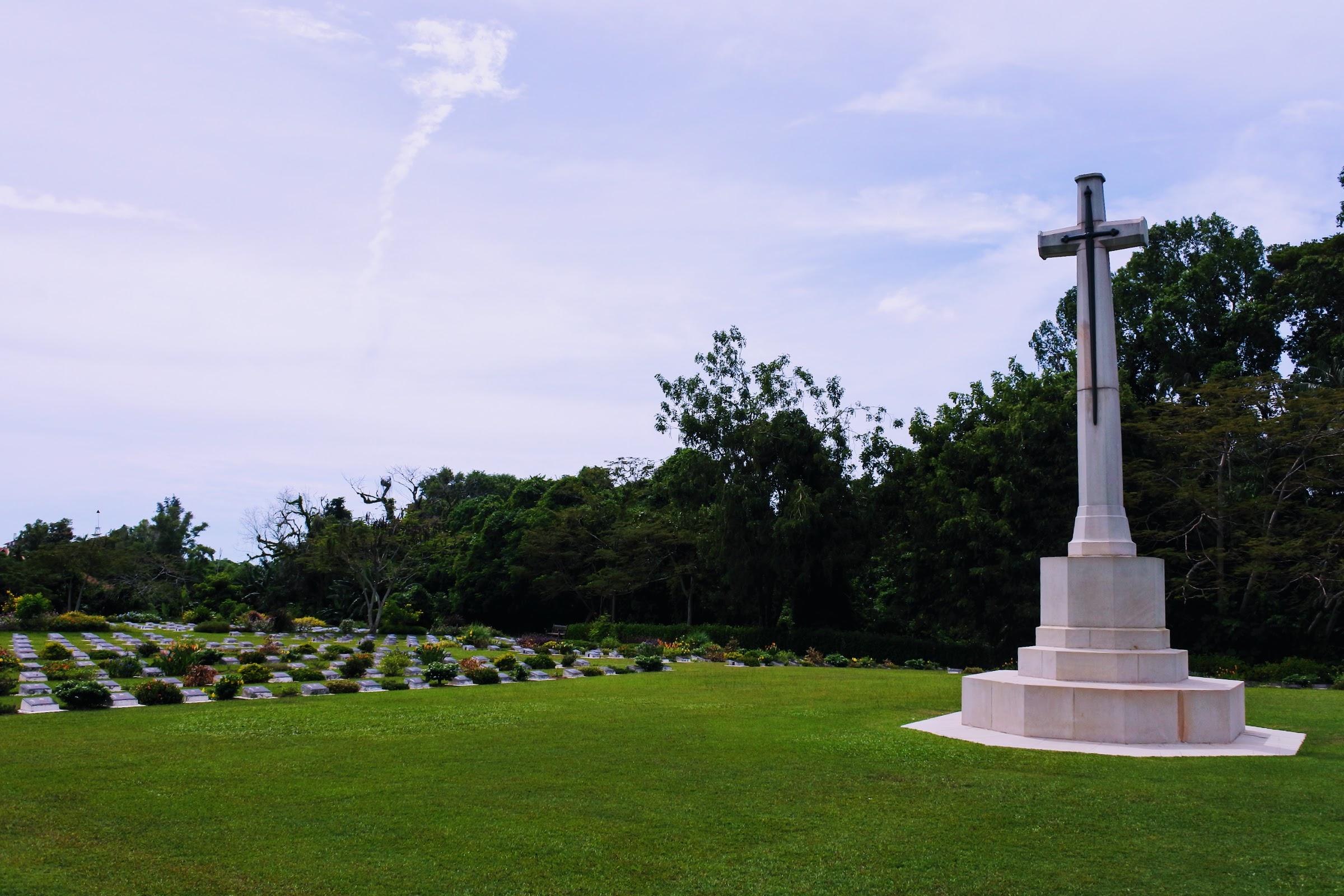 The Christian area at Labuan War Cemetery