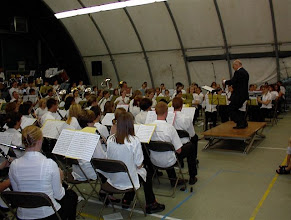 Photo: Met 4 verschillende dirigenten wordt op 2 dagen tijd een volledig concertprogamma ingeoefend. Uiteraard mag Opus 7 daar niet op ontbreken.