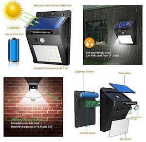 Lampa solara de perete cu senzor miscare 20 LED