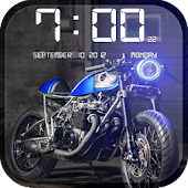 Bikes HD Clock Wallpaper