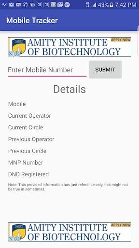 MNP Mobile Tracker  screenshots 1