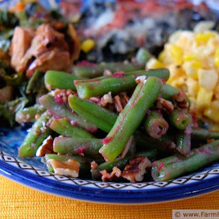 Green Beans With Cranberries And Pecans Recipes