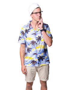 Hawaiiskjorta, blommig