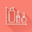 Beautistics: makeup bag, beauty tracker, budgets icon