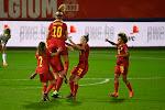 Dubbele voorsprong tijdens de rust voor de Red Flames die zo op weg lijken te zijn naar het EK2022