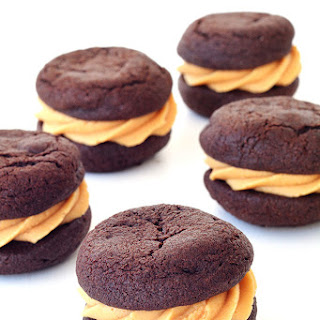Chocolate Peanut Butter Cookie Sandwiches