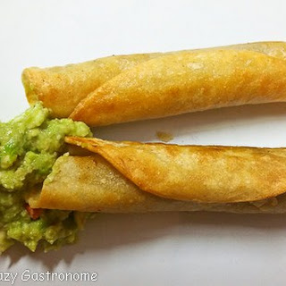 Taquitos and Easy Guacamole