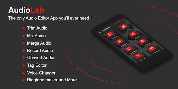 AudioLab Pro v1.1.8 MOD APK – Audio Editor Recorder & Ringtone Maker 1