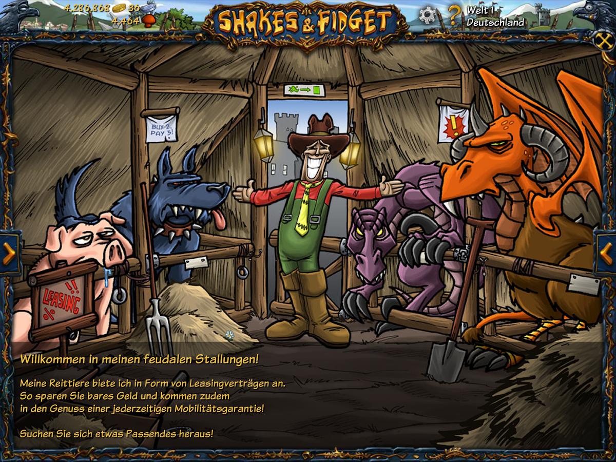Shakes and Fidget- screenshot