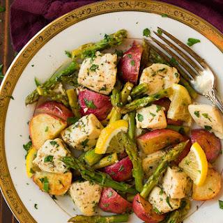 Lemon Chicken Asparagus and Potato Sheet Pan Dinner Recipe