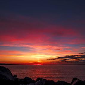 Morning's Gentle Light by Glen Sande - Landscapes Sunsets & Sunrises ( mn, duluth, pentax a-28mm f.28, canal park, sunrise, pentax k1 )