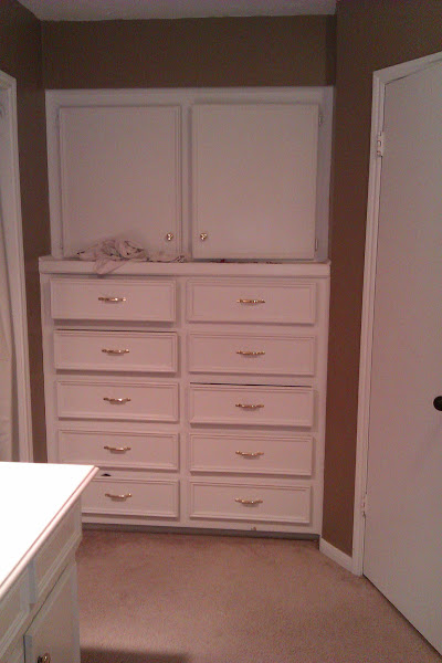 Photo: We have a lot of storage in our bathroom which would lead one to believe that it would be easier to keep things organized.