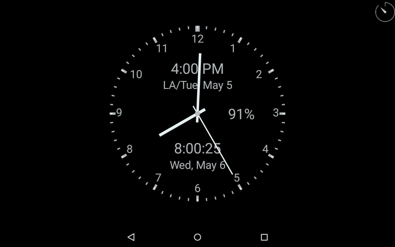 ClockView (Always On Clock) - screenshot