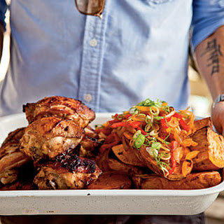Marinated Chicken Thighs with Sweet Potato.