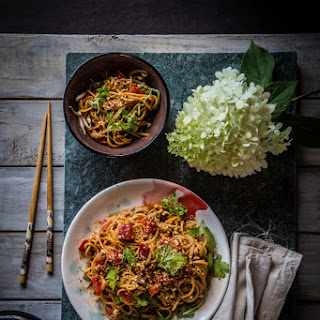 Noodle With Sesame Peanut Dressing