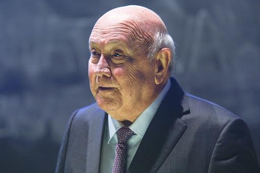 SA 'infinitely better' than 25 years ago' but more unequal - FW de Klerk