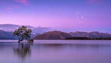 Constellation Landscape - Zoom Background template