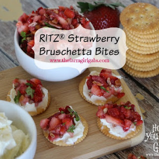 RITZ® Strawberry Bruschetta Bites with Marscapone Cheese Recipe